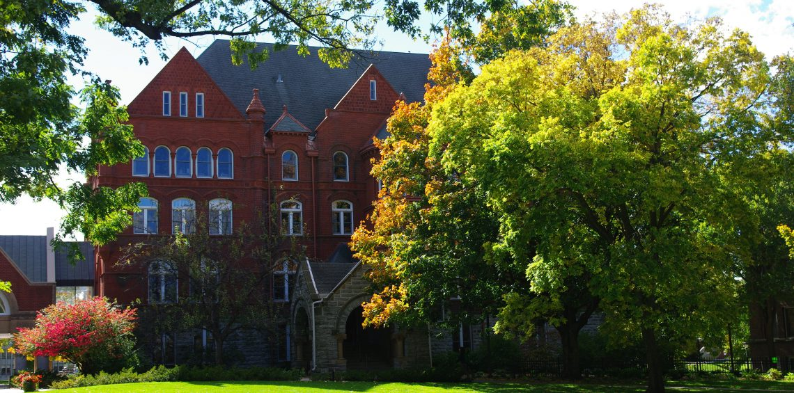Old Main Humanities Building at Macalester College