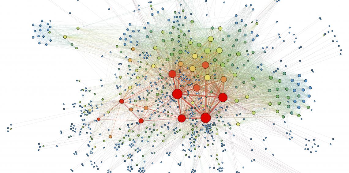 Social network analysis visualization.